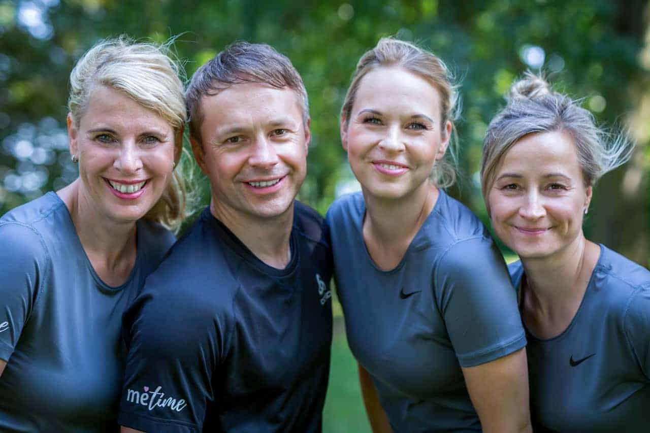 Vierer-Teamfoto von metime Wismar